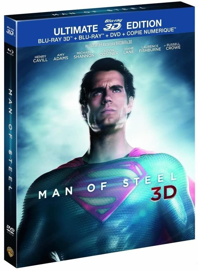 Man of Steel (2013) (Lenticular Cover, Digibook, Ultimate Edition, Blu-ray 3D + Blu-ray + DVD)
