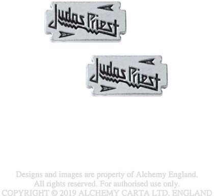 Judas Priest Stud Earrings - Razor Blade