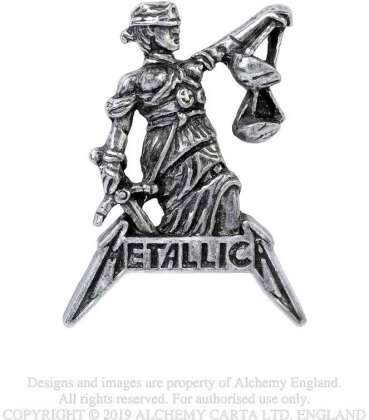 Metallica Pin Badge - Justice For All