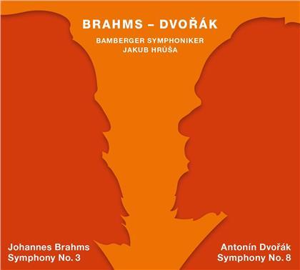 Johannes Brahms (1833-1897), Antonin Dvorák (1841-1904), Jakob Hrusa & Bamberger Symphoniker - Symphonie Nr. 3 / Symphonie Nr. 8 (Hybrid SACD + SACD)