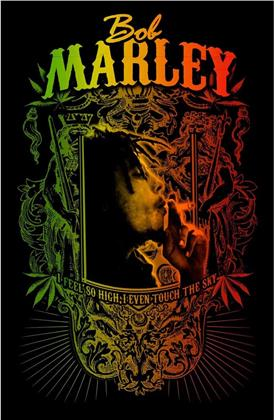 Bob Marley Textile Poster - Touch The Sky