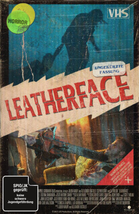 Leatherface (2017) (VHS-Edition, Limited Collector's Edition, Uncut, Blu-ray + DVD)