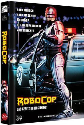 Robocop (1987) (Cover A, Director's Cut, Edizione Limitata, Mediabook, Blu-ray + DVD)