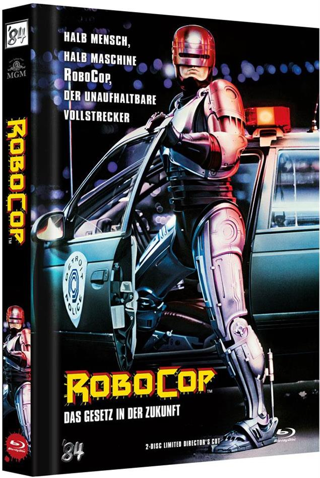Robocop (1987) (Cover A, Director's Cut, Limited Edition, Mediabook, Blu-ray + DVD)