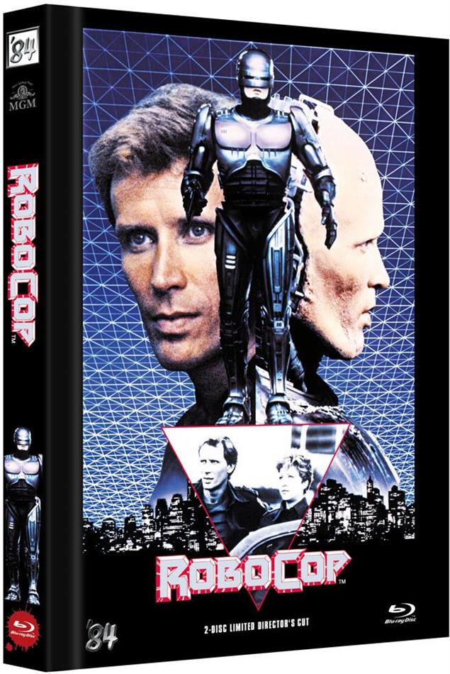 Robocop (1987) (Cover C, Director's Cut, Limited Edition, Mediabook, Blu-ray + DVD)