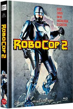 Robocop 2 (1990) (Cover A, Limited Collector's Edition, Mediabook, Uncut, Blu-ray + DVD)