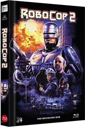 Robocop 2 (1990) (Cover C, Limited Edition, Mediabook, Blu-ray + DVD)