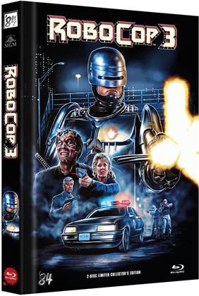 Robocop 3 (1993) (Cover C, Edizione Limitata, Mediabook, Blu-ray + DVD)