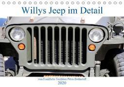 Willys Jeep im Detail vom Frankfurter Taxifahrer Petrus Bodenstaff (Tischkalender 2020 DIN A5 quer)