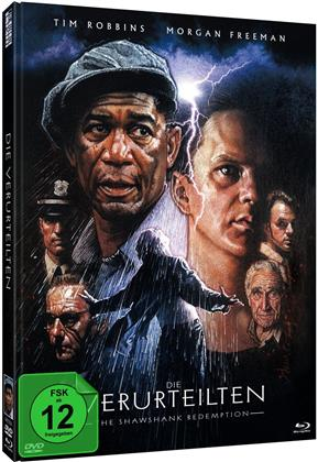 Die Verurteilten (1995) (Cover B, 25th Anniversary Edition, Limited Edition, Mediabook, Blu-ray + DVD)