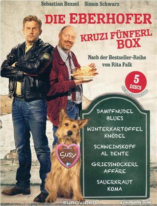Die Eberhofer Kruzifünferl Box - Dampfnudelblues / Winterkartoffelknödel / Schweinskopf al dente / Griessnockerlaffäre / Sauerkrautkoma (5 Blu-rays)