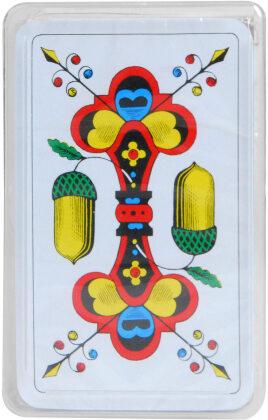 Luxus Jasskarten mit Goldecken in Plastikbox