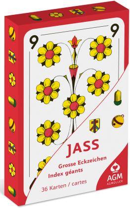 OPTI-Jasskarten mit EXTRA Grossen zahlen in Kartonfaltschachtel