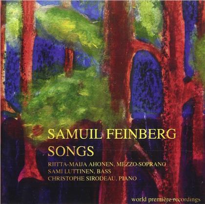 Rita Ahonen, Sami Luttinen, Christophe Sirodeau & Samuil Feinberg (1890-1962) - Songs
