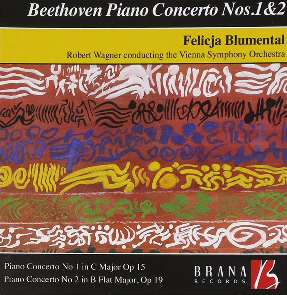 Ludwig van Beethoven (1770-1827), Robert Wagner, Felicja Blumental & Wiener Symphoniker - Piano Concertos Nos 1 & 2