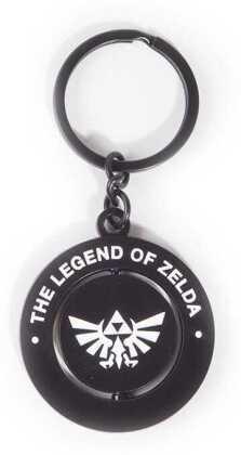 Nintendo - Zelda Black & White Metal Spinner Keychain