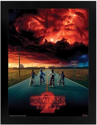 Stranger Things - Mind Flayer - Black Wooden Framed Poster