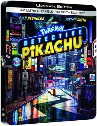 Detective Pikachu - Pokémon (2019) (Edizione Limitata, Steelbook, 4K Ultra HD + Blu-ray 3D + Blu-ray)