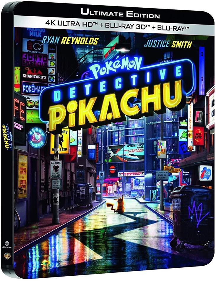 Detective Pikachu - Pokémon (2019) (Limited Edition, Steelbook, 4K Ultra HD + Blu-ray 3D + Blu-ray)