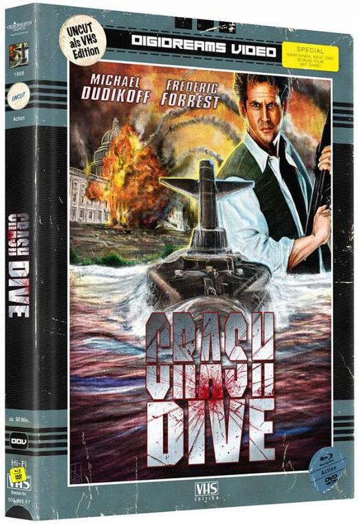 Crash Dive (1996) (VHS-Edition, Limited Edition, Mediabook, 2 Blu-rays + 2 DVDs)