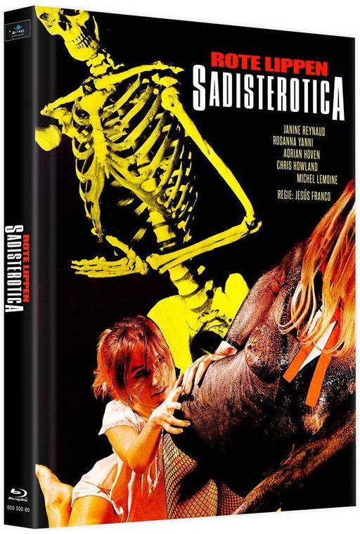 Rote Lippen, Sadisterotica (1969) (Cover C, Limited Edition, Mediabook, 2 Blu-rays)