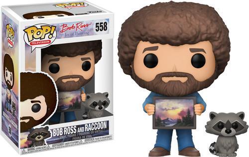 Funko Pop! Television 558 - Bob Ross - Bob Ross with Raccoon