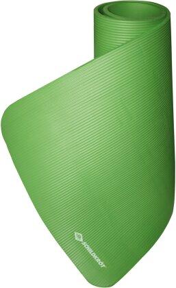 Fitnessmatte 15 mm grün - 180x61 cm, gute Dämpfung,