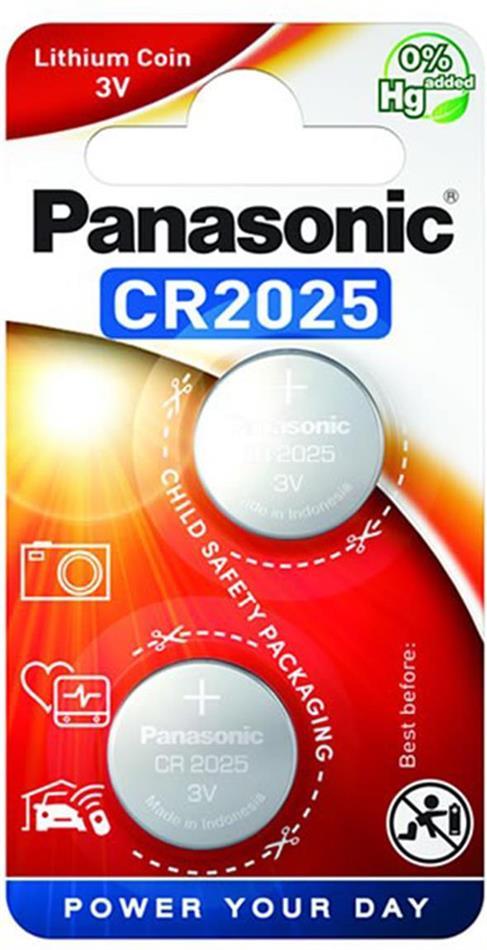 Panasonic Lithium Power 2x CR2025