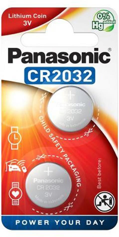 Panasonic Lithium Power 2x CR2032