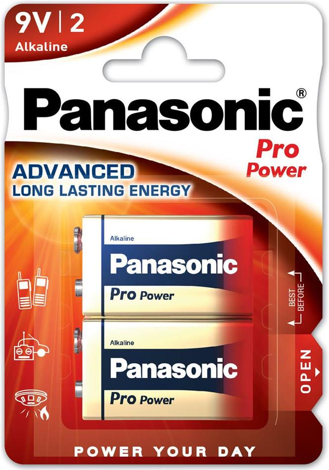 Panasonic Pro Power 2x 6LR61 (9V Block)