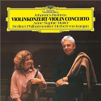 Johannes Brahms (1833-1897), Herbert von Karajan, Anne-Sophie Mutter & Berliner Philharmoniker - Violinkonzert, Op.77 (LP)
