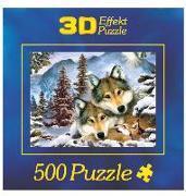 3D Puzzle Motiv - Wolf Harmony 500 Teile