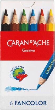 CARAN d'ACHE Farbstifte Fancolor Mini - 6 Farben