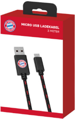 PS4 USB Ladekabel Bayern München Micro USB 3m