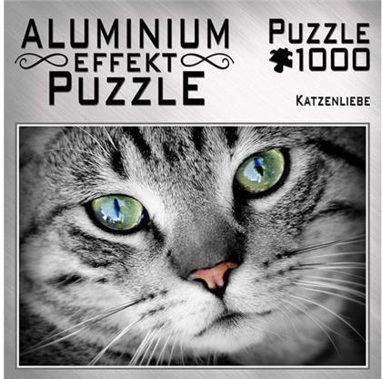 Katzenliebe - Aluminium Effekt Puzzle 1000 Teile