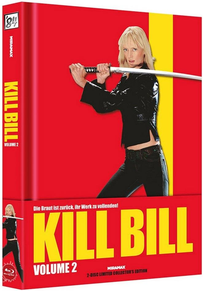 Kill Bill - Vol. 2 (2004) (Wattiert, Cover A, Limited Collector's Edition, Mediabook, Blu-ray + DVD)