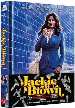 Jackie Brown (1997) (Wattiert, Cover A, Collector's Edition Limitata, Mediabook, Blu-ray + DVD)
