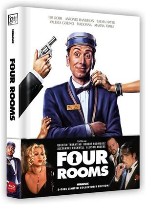 Four Rooms (1995) (Wattiert, Cover A, Limited Collector's Edition, Mediabook, Uncut, Blu-ray + DVD)