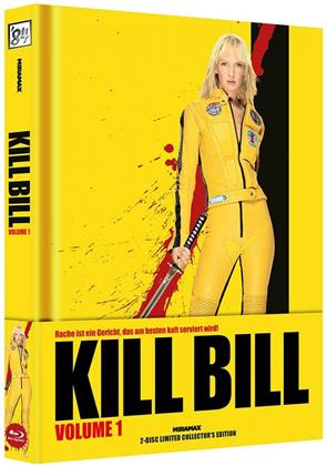 Kill Bill - Vol. 1 (2003) (Wattiert, Cover A, Limited Collector's Edition, Mediabook, Blu-ray + DVD)