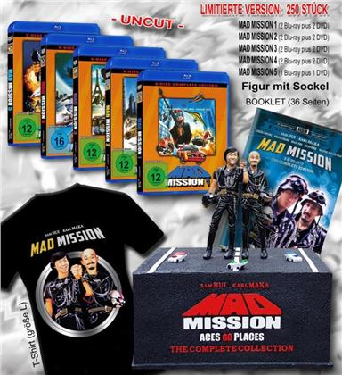 Mad Mission 1-5: Aces Go Places - The Complete Collection (mit Figur, Limited Edition, Uncut, 9 Blu-rays + 9 DVDs)