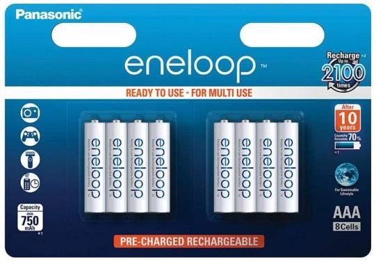 Panasonic Eneloop 8x AAA 750mAh