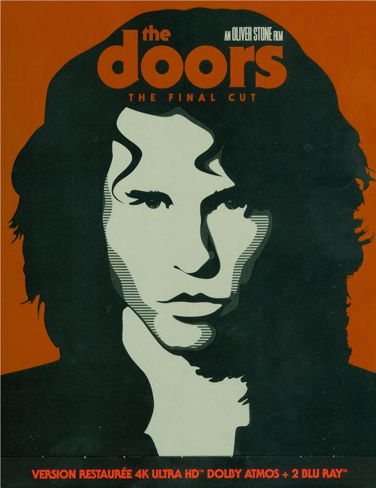 The Doors (1991) (Final Cut Edition, Kinoversion, Restaurierte Fassung, Steelbook, 4K Ultra HD + 2 Blu-rays)