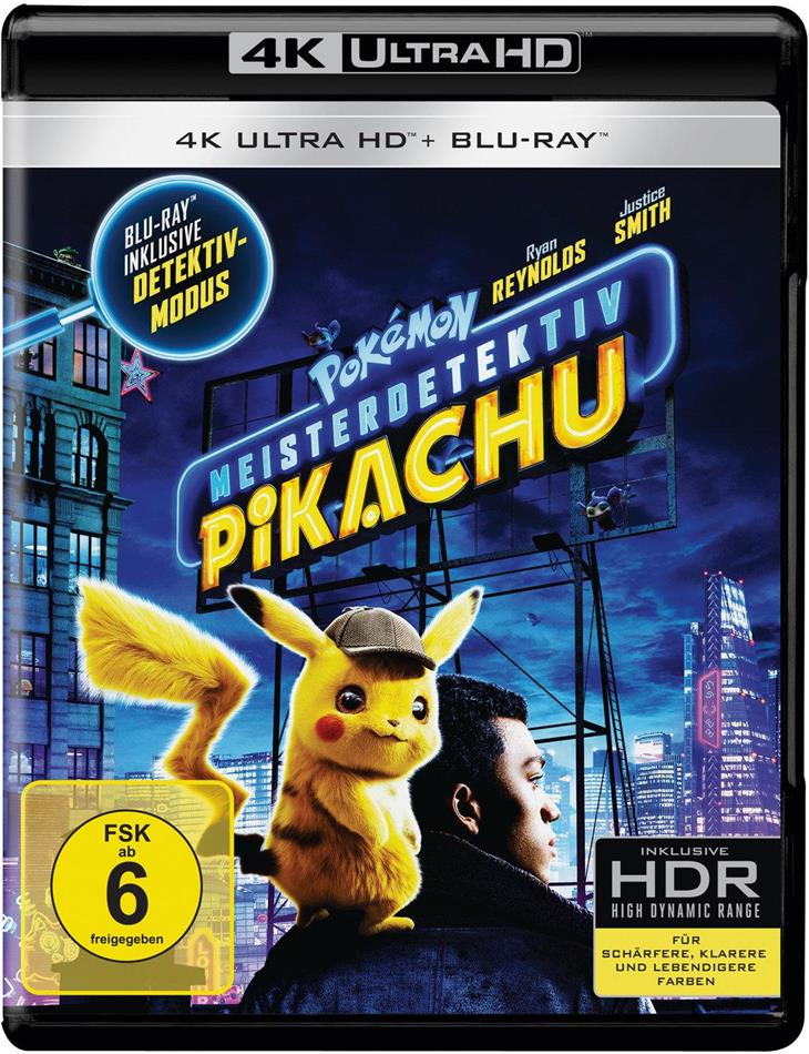 Meisterdetektiv Pikachu - Pokémon (2019) (4K Ultra HD + Blu-ray)