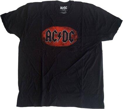 AC/DC Unisex Tee - Oval Logo Vintage