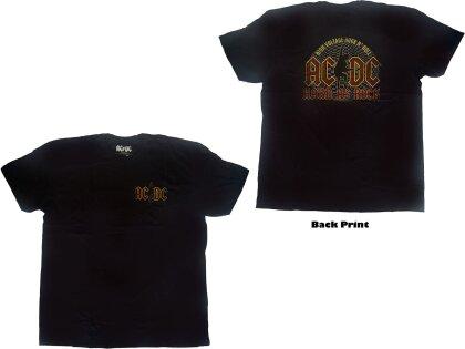 AC/DC Unisex Tee - Hard As Rock (Back Print)