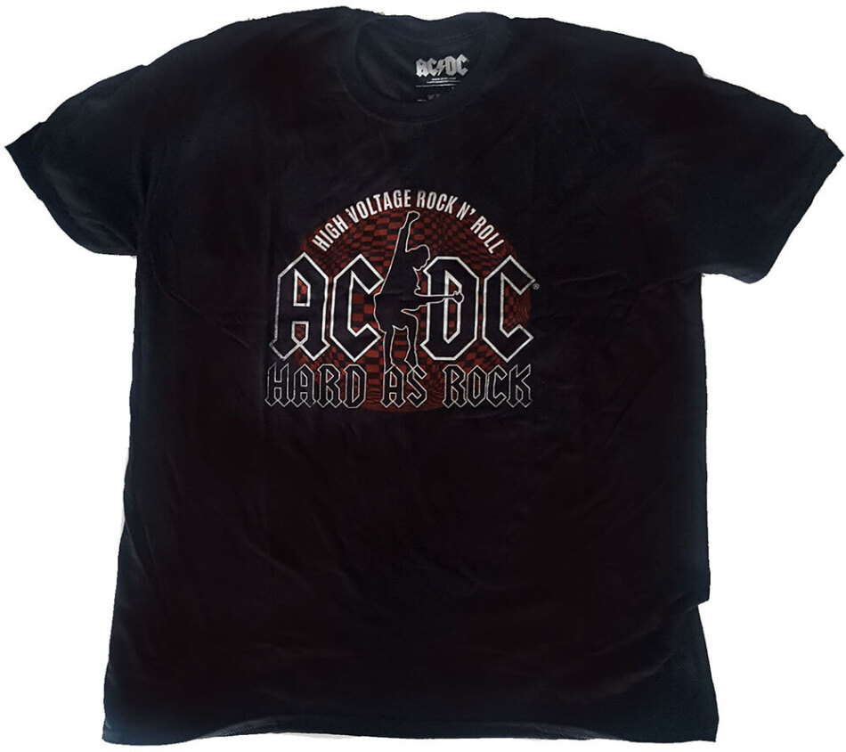 AC/DC Unisex Tee - Hard As Rock - Grösse M