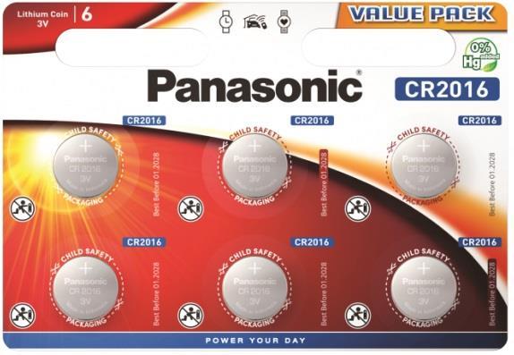 Panasonic Lithium Power 6x CR2016