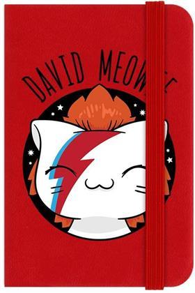 V. I. Pets David Meowie Mini Red Notebook