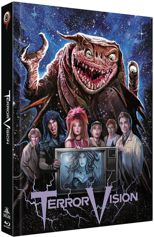 Terror Vision (1986) (Cover C, Limited Collector's Edition, Mediabook, Blu-ray + DVD)