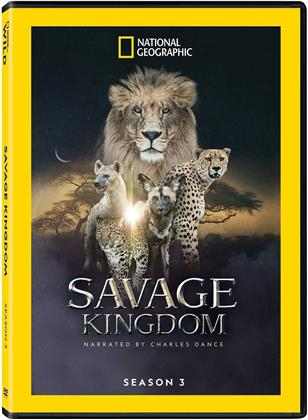 Savage Kingdom - Season 3 - Narrated By Charles Dance (National Geographic, 2 DVD)
